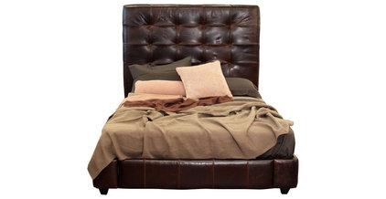 icon bardot leather bed - bromton/cocoa - ABC Carpet & Home