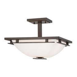 Minka Lavery - Minka Lavery 1279 2 Light Semi-Flush Ceiling Fixture in Smoked Iron from the Lin - Two Light Semi-Flush Ceiling Fixture in Smoked Iron from the Lineage CollectionFeatures: