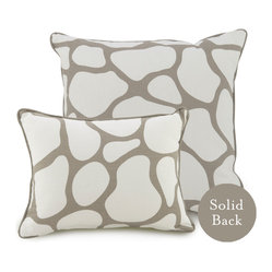 "18"" x 18"" Cobblestone Pillow, Taupe"