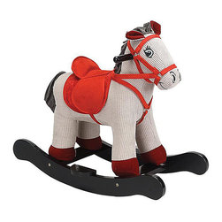 "Charm Company - Corduroy Horse Rocker - The Corduroy Horse Plush Rocker is designed with wood and can entertain children 3 years and older. The structure is constructed of hand crafted hardwood while the cute multi-colored horse is made out of soft plush. Wooden handles stick out near the animals ears so your children can hold on to them while rocking and keep their balance. This rocker has a sound feature that requires 2 AA batteries not included. Holds up to 100 lbs. Recommended for children ages 3 and up. Strong hardwood rocker base. Strong hardwood rocker base. Natural non-toxic finish. Natural stain wooden handles. Extra soft plush body. Fun sounds. Easy clean up with mild soap and water. Dimensions: Rocker width: 12"", rocker length: 25"", overall height: 22"", seat height to floor: 14.5""."
