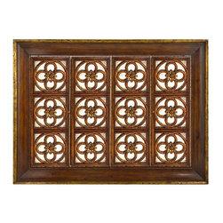 "John Richard Quatrefoil Wall Mounted Television Cabinet EUR-04-0101 - 50""H X 66.5""W X 8""D"