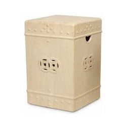 Asian Square - Garden Stool - Large -
