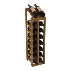 Wine Racks America - 2 Column 8 Row Display Top Kit in Redwood, Oak Stain - Display your best vintage while efficiently storing 16 wine bottles. This slim design is a perfect fit for almost any space. Our wine cellar kits are constructed to industry-leading standards. Display top wine racks are perfect for commercial or residential environments.