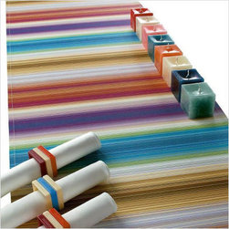 Elvin Runner by Missoni Home - Get your table Anna Wintour-worthy with this fabulous striped table runner from Missoni Home.