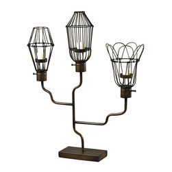 Sterling Industries - Sterling Industries 51-10083 Iron Caged Bulb Candle Holder - Candle Holder (1)