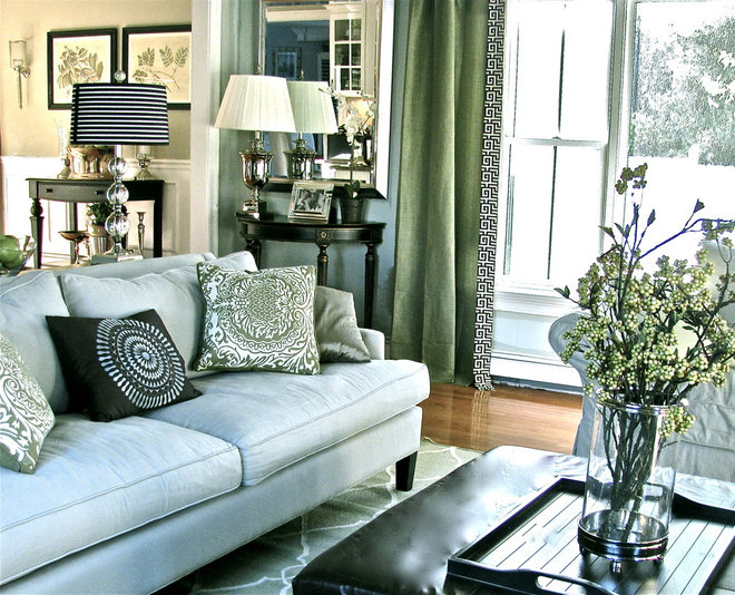 Contemporary Living Room by Stacy Curran