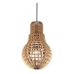 ParrotUncle - Modern Design Plywood Bulb Shade Pendant Lighting - Modern Design Plywood Bulb Shade Pendant Lighting