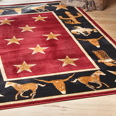 eclectic rugs by Lone Star Western Decor