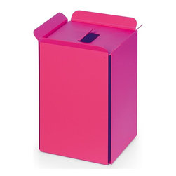 WS Bath Collections - Paper Basket in Fuchsia - Paper basket/waste basket. Modern/contemporary design. Designer high end quality. Warranty: One year. Made from powder coated aluminum. Made in Italy. No assembly required. 10.2 in. L x 8.7 in. W x 12.8 in. H (5 lbs.). Spec SheetUnique and fine bath accessories and complements, that provide inspirational solutions for every decor.