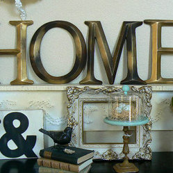 "Pottery Barn–Style Wall Letters ""HOME"" by Shabby Chic Home"