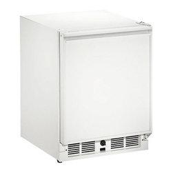 "U-Line - 21"" ADA Refrigerator, Right Hinge, Lock, White - Mechanical dial control"