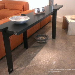 Console Table - Design inspired from linear sharp forms.