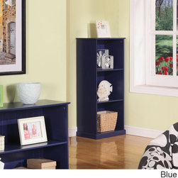 K and B Furniture Co Inc - Children's 3-tier Bookcase - Let your little one pick out a bedtime story each night with this accessible three-tier bookcase. Available in several fun and colorful finishes,this MDF shelf is also useful for storing games,movies,decorative pieces and more.
