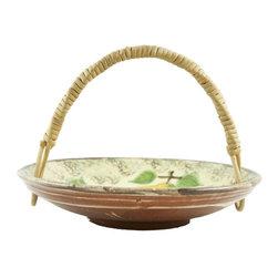 Lavish Shoestring - Consigned Spanish Glazed Pottery Fruit Basket - This is a vintage one-of-a-kind item.