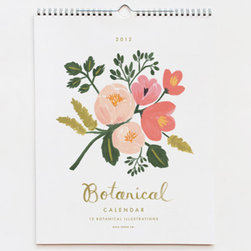 2012 Botanical Calendar - This beautiful calendar illustrated by Anna Bond is one of my favorites. It's functional and adds some prettiness to your desk area year-round.