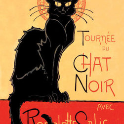 Buyenlarge - Tournee du Chat Noir avec Rodolptte Salis 12x18 Giclee on canvas - Series: Steinlein