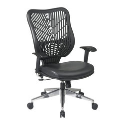 Office Star - Office Star SPACE EPICC SpaceFlex Back Executive Chair in Raven - Office Star - Office Chairs - 88Y33BP91A8 - The SPACE seating collection combines contemporary design with ergonomic engineering to enhance the decor and comfort of any office setting. Built to Office Star Products exacting contract furniture standards this highly innovative eye-catching collection is backed by Office Stars industry leading limited lifetime warranty. And within the vast confines of SPACE you'll find more than 100 models to choose from.