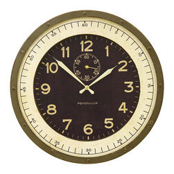 PENDULUX - Skyway Wall Clock - Skyway Clock inspired by an original found in a US Military Airstrip