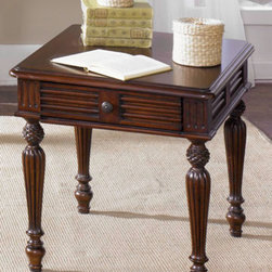 Liberty Furniture - Drawer End Table with Pineapple Accents -
