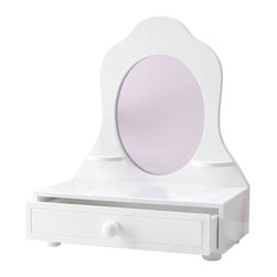 "KidKraft - Kidkraft Kids Children Home Indoor Fun Dress Up Pretend Play Toy Tabletop Vanity - It's time to make sure we look marvelous. Our Tabletop Vanity lets young girls pretend they are all grown up and getting ready for an important date. This adorable furniture piece is lightweight and ships assembled. Age Range: 3 Plus. Dimension: 13.11""x 7""x 15.82"""