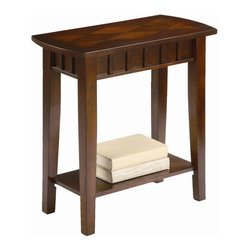 ORE International - Traditional End Table - Warranty: 30 days. Made from wood. Light espresso finish. Assembly required. 24 in. W x 12 in. D x 24 in. H (8 lbs.)This end table is stylishly designed to fit in any room.