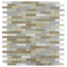 Contemporary Tile by Tile Bar