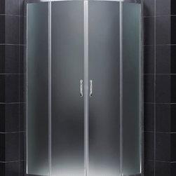 "DreamLine - DreamLine DL-6154-01FR Prime Shower Enclosure, Base & Backwalls - DreamLine Prime 36 3/8"" by 36 3/8"" Frameless Sliding Shower Enclosure, Base and QWALL-4 Shower Backwall Kit"