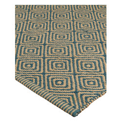 """Natural Area Rugs - """"Recife"""" Jute/Cotton Rug, Natural Fiber, Hand Made by Artisan Rug Maker, Blue - Free & Same Day Shipping within Continental USA. International Shipping Available (Contact us for a quote). All natural, hand woven by Artisan rug maker. Incredibly soft and warm, Jute rugs look great in any room. It's durability makes it great to be placed in high traffic areas as they do not wear easily. Like any rug, rug pads are recommended as it will prolong the longevity of your jute rug and protect hardwood floor. Variations are part of the natural beauty of natural fiber."""