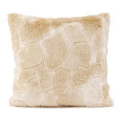 Howard Elliott - Luscious Natural 20 x 20 Pillow - Change up color themes or add pop to a simple sofa or bedding display by piling up the pillows in a multitude of colors, textures and patterns. This Luscious Pillow features a luxuriously soft faux fur in rich neutral hue.