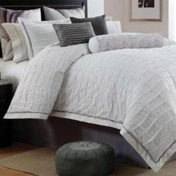 Shoreline II Comforter Set - New white bedding will add relaxation and comfort to the room.