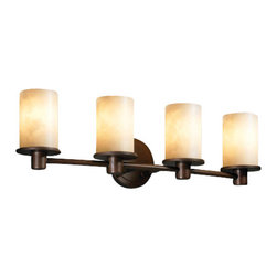 Justice Design Group - Justice Design Group CLD-8514 Rondo 4 Light Bathroom Bar Fixture from the Clouds - Rondo 4 Light Bathroom Bar Fixture