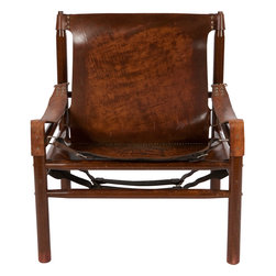 """Arne Norell, - Consigned Arne Norell Safari Chair, Leather/Rosewood, - Gorgeous """"Safari"""" chair in solid rosewood with incredible leather upholstery. Designed by Arne Norell, Sweden, circa 1964. This safari chair has everything, style, comfort, superb detail with the buckles & straps, and the best leather I have ever seen. The color and finish of this leather is absolutely breathtaking."""