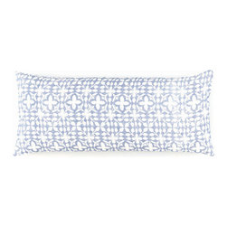 Pine Cone Hill - veena blue decorative pillow (15x35) - An Indian-inspired pattern gives our linen decorative pillow a touch of global glamour.��This item comes in��blue.��This item size is��35w 15h.