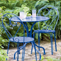 Bistro Set - Coffee and crumpets in the morning, anyone? This bistro set is the perfect way to create that nook in your garden where you want to sit in private on a Sunday morning and do the crossword.