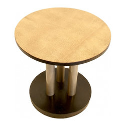 French Art Deco Table - Made in the early 1930's in France this piece has  a design  which is most  likely a Rene Herbst 's creation or inspired by him , one of the founder of the UAM , it was the  school of though who inspired Le Corbusieur and Perriand  .It was said about French Art deco  that,the absence of ornaments are  replaced with the choice of magnificent  materiel and outstanding proportion.
