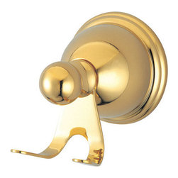 "Kingston Brass - Robe Hook - Kingston Brass' bathroom accessories are built for long-lasting durability and reliability. They are designed so you can easily coordinate matching pieces. Each piece is part of a collection that includes everything you need to complete your bathroom decor. All mounting hardware is included and installation is easy.; 2-3/4"" diameter base; Extends 3-1/2"" from the wall; Premium finish; Easy installation; All mounting hardware included; Material: Brass; Finish: Polished Brass; Collection: Restoration"