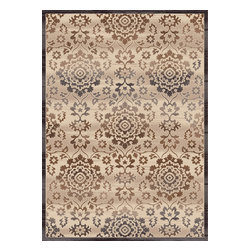 "Dynamic Rugs - Dynamic Rugs Treasure 4362-100 (Cream) 5'3"" x 7'7"" Rug - This Machine Made rug would make a great addition to any room in the house. The plush feel and durability of this rug will make it a must for your home. Free Shipping - Quick Delivery - Satisfaction Guaranteed"