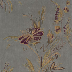 Linon - Contemporary Trio 8'x10' Rectangle Plate Blue-Gold Area Rug - The Trio area rug Collection offers an affordable assortment of Contemporary stylings. Trio features a blend of natural Plate Blue-Gold color. Hand Tufted of 100%Polyester Cut Pile the Trio Collection is an intriguing compliment to any decor.