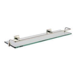 Kraus - Kraus Aura Bathroom Accessories - Shelf with Railing Brushed Nickel - *At Kraus, we use various elements of design to impress and make a statement in order to turn your private space into a truly unique one