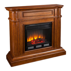 Hawkins Fireplace, Walnut, Electric
