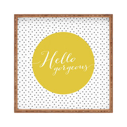 DENY Designs - Allyson Johnson Hello Gorgeous Square Tray - With DENY'S multifunctional square tray collection, you can use it for decoration in just about any room of the house or go the traditional route to serve cocktails. Either way, you'll be the ever so stylish hostess with the mostess!