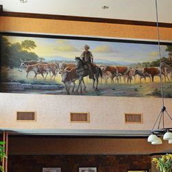 """Hill Country Cattle Drive Scene"" - Hampton Inn & Suites, Boerne, Texas"