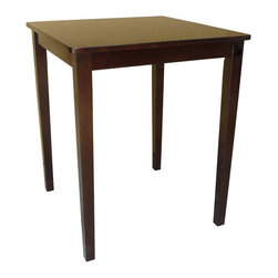 International Concepts - Square Counter Height Shaker Style Dinette Table - Counter height. Use with 24 in. seat height stools. Made of solid wood. Shaker style. Assembly required. 30 in. L x 30 in. W x 36 in. H (35 lbs.)