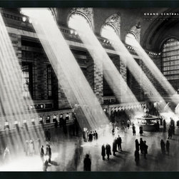 "Amanti Art - ""Grand Central Station, New York, 1934"" Framed with Gel Coated Finish by Hulton - The design and architecture of New York's famed Grand Central Station inspires awe among the many tourists who visit it and even the locals who commute through it on a daily basis. This photo, with the sun streaking through the upper windows, was taken in 1934, but could just as well been shot today. A timeless beauty you can proudly display on your wall."