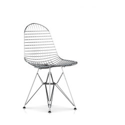 Herman Miller - Eames Wire Chair - Born in the 1950s, this wire Eames chair has become a modern classic. Chrome contoured to fit your body, it's comfortable, functional and strikingly stylish — a smart addition to your favorite space.