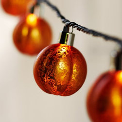 Orange Mercury Glass Pumpkin String Lights - I love these pumpkin lights in mercury glass!