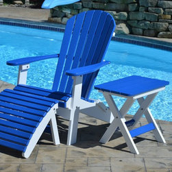 Adirondack Chairs - Our classic look of an Adirondack chair has a convenient folding style.