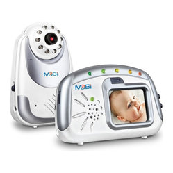 Mobi - MobiCam Digital Audio and Video Baby Monitoring System - You'll feel secure with this quality babycam on the job. Its abundant features include a high-resolution screen, a wide camera angle, infrared night vision and voice-activated operation. Now everyone can sleep tight!