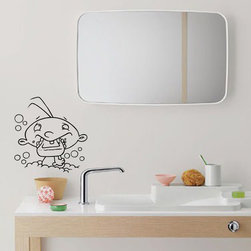 StickONmania - Bath Boy Sticker - A nice sticker for your bathroom. Decorate your home with original vinyl decals made to order in our shop located in the USA. We only use the best equipment and materials to guarantee the everlasting quality of each vinyl sticker. Our original wall art design stickers are easy to apply on most flat surfaces, including slightly textured walls, windows, mirrors, or any smooth surface. Some wall decals may come in multiple pieces due to the size of the design, different sizes of most of our vinyl stickers are available, please message us for a quote. Interior wall decor stickers come with a MATTE finish that is easier to remove from painted surfaces but Exterior stickers for cars,  bathrooms and refrigerators come with a stickier GLOSSY finish that can also be used for exterior purposes. We DO NOT recommend using glossy finish stickers on walls. All of our Vinyl wall decals are removable but not re-positionable, simply peel and stick, no glue or chemicals needed. Our decals always come with instructions and if you order from Houzz we will always add a small thank you gift.