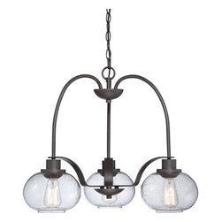 Quoizel - Quoizel TRG5103 Trilogy 3 Light 1 Tier Chandelier with Vintage Edison Bulb - Features: